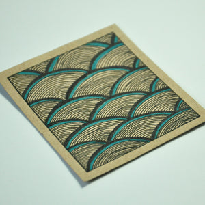 """Waves"" Hand-Drawn Print"