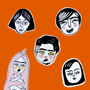 """Heads"" Stickers"