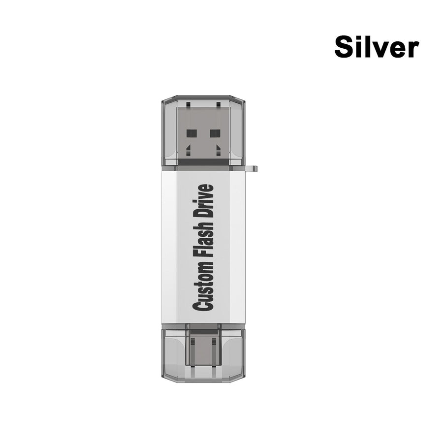 Type-C USB Drive-Silver-Topesel