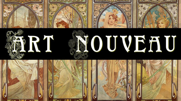 Art Nouveau - Leadlights, Lamps, Lights & ladies from Bygone Days