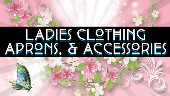 ladies Clothing, Aprons, slips and accessories