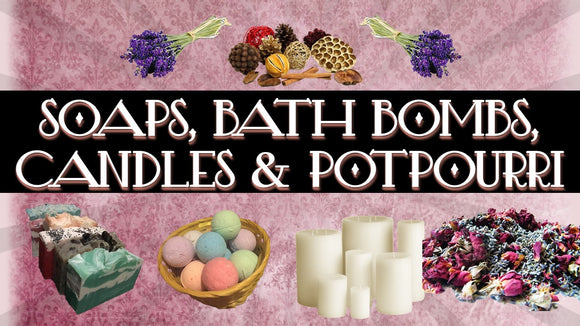 Organic Natural Soap for the family & pets, candles, herbs, potpourri & much more