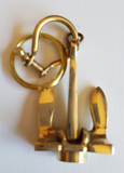 Nautical Theme Brass Key Chains