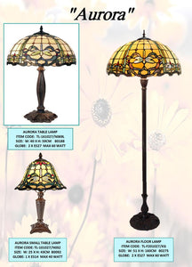 AURORA- TABLE & UPLIGHT LEADLIGHT LAMPS