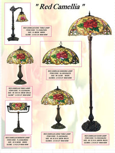 RED CAMELLIA - LEADLIGHT LAMPS