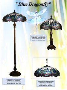 BLUE DRAGONFLY - LEADLIGHT LAMPS