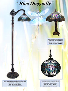 BLUE DRAGONFLY 2 - LEADLIGHT LAMPS