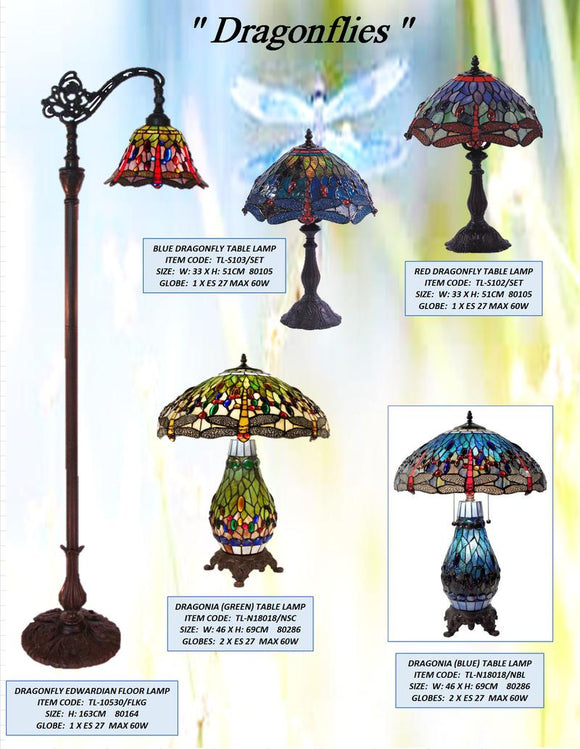 DRAGONFLIES - LEADLIGHT LAMPS