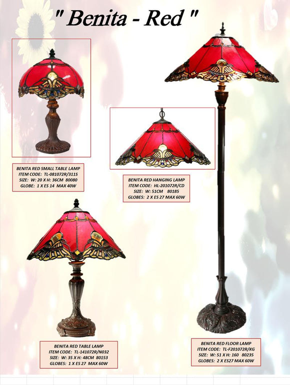 BENITA RED - LEADLIGHT LAMPS
