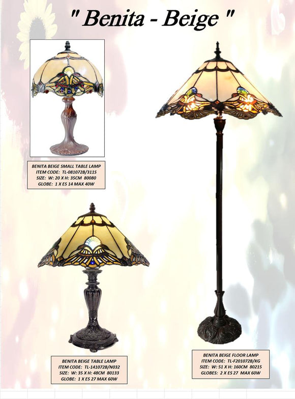 BENITA BEIGE - LEADLIGHT LAMPS