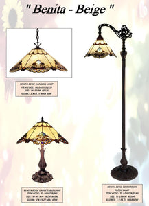 BENITA BEIGE 2 - LEADLIGHT LAMPS