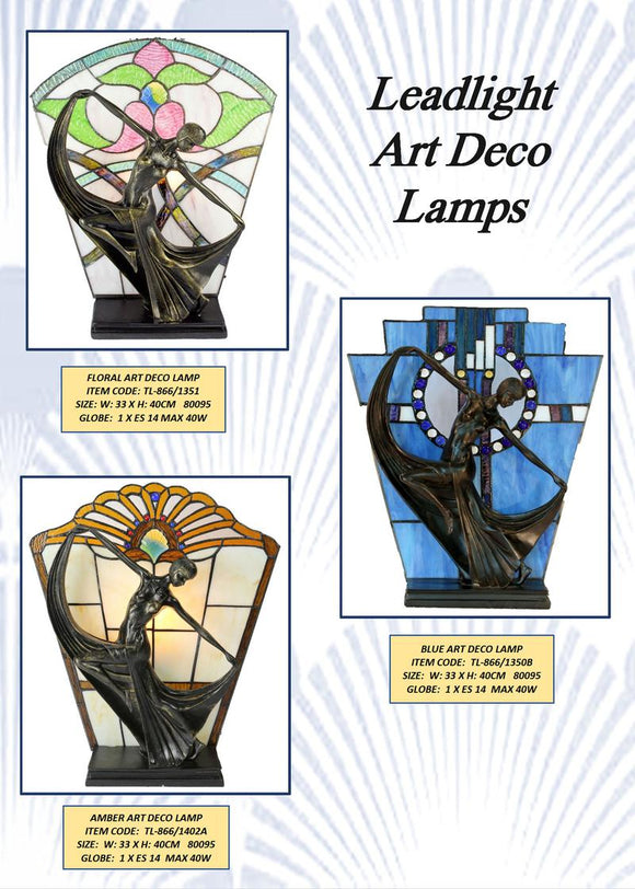 ART DECO - LEADLIGHT LAMPS