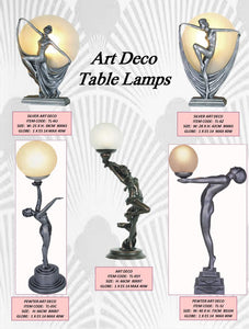 ART DECO 2 - TABLE LEADLIGHT LAMPS