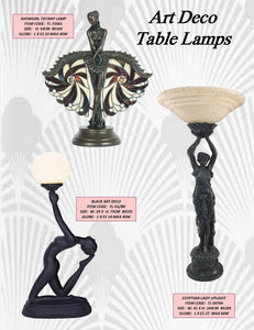 ART DECO 4 - TABLE LEADLIGHT LAMPS
