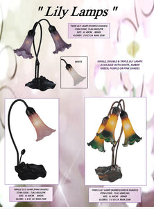LILY - TABLE LEADLIGHT LAMPS