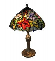"15"" floral table lamp, fairy in flowers"