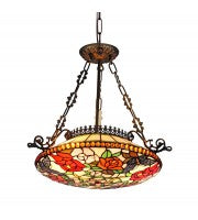 "18"" Leadlight Kensington pendant - butterfly."