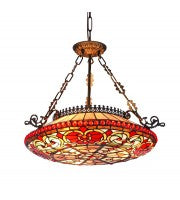 "20"" Leadlight Kensington pendant - floral."