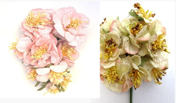 CARABELLA ROSE POSY CREAM & PINK