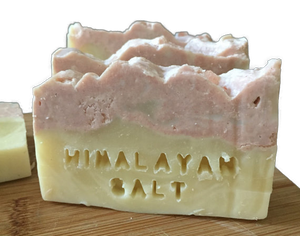 Handmade Pink Clay and Himalayan Salt Soap, Natural, Organic,