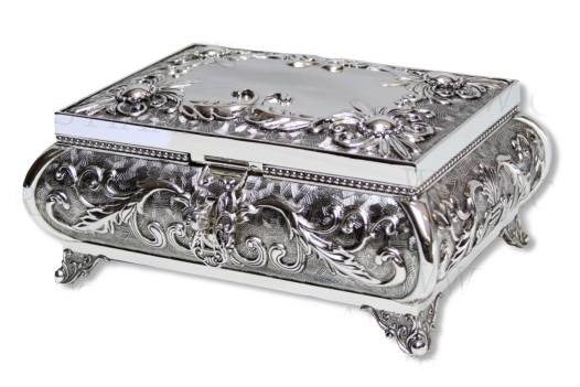JEWELLERY BOX-HEIRLOOM-FOOTED (18CM)
