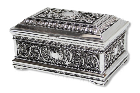JEWELLERY BOX-HEIRLOOM-FLORAL (15CM)