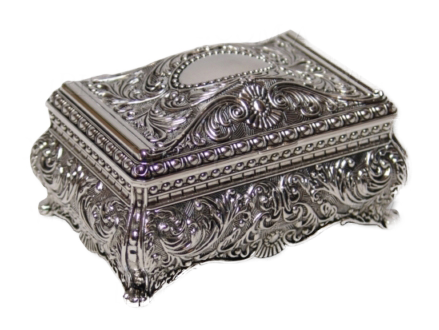 JEWELLERY BOX-HEIRLOOM-FILIGREE (9CM)