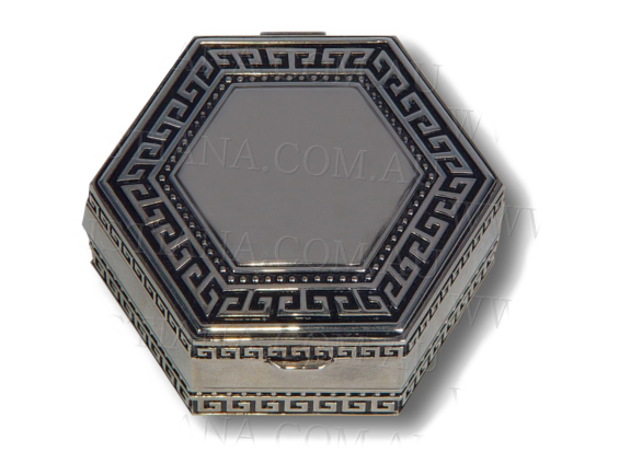 JEWELLERY BOX-GRECIAN KEY HEXAGONAL