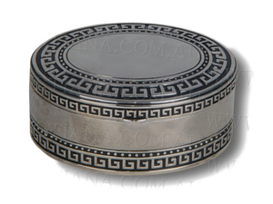 JEWELLERY BOX-GRECIAN KEY-OVAL (9CM)