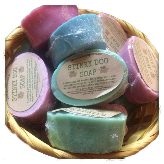 Stinky Dog Soap, Natural, Handmade, Organic