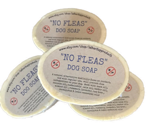 No Fleas, Dog Soap, Handmade, Natural, Organic, Vegan