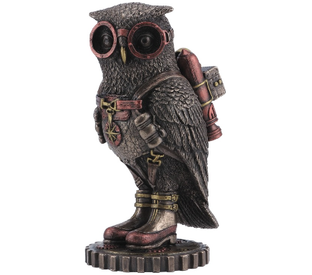 STEAMPUNK - OWL with goggles and jetpack
