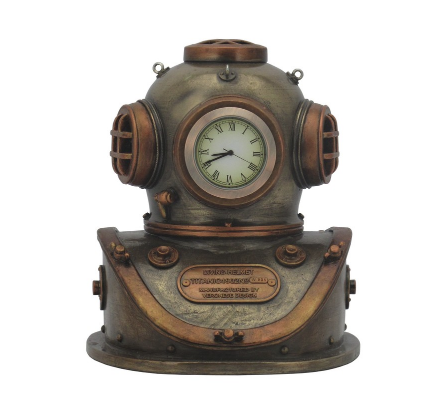 STEAMPUNK - CLOCK - DIVING HELMET