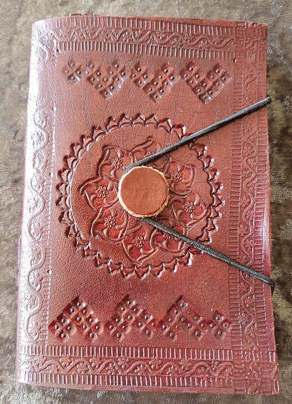 Small - Leather Cover Journals - LD-001 - ELASTIC CORD TIE