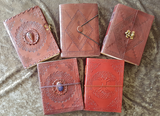 Medium - Leather Cover Journals – LD-010 DRAW STRING WITH STONE