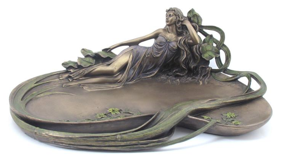 JEWELLERY TRAY - LADY LYING DOWN.