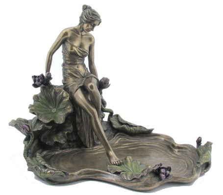 JEWELLERY TRAY - LADY STEPPING WATER.