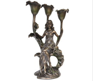 CANDLE HOLDER - LADY WITH CALLA LILY.