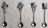 WS Handmade Silver Pewter Olive Spoons