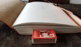 Large - Leather Cover Journals – LD-015 PLAIN EMBOSSED DRAW STRING