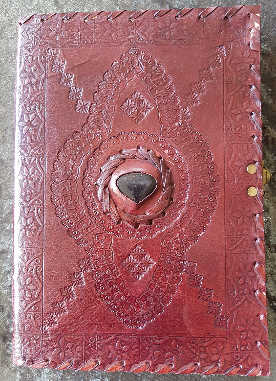 Large - Leather Cover Journals – LD-21 SIDE CLIP WITH STONE