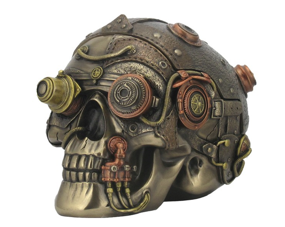 STEAMPUNK - TRINKET BOX - SKULL.