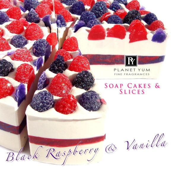 a slice - Black Raspberry & Vanilla (slice only, full cake on request)