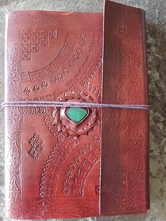 Large - Leather Cover Journals – LD-010 DRAW STRING WITH STONE