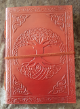 Medium - Leather Cover Journals – LD-015 PLAIN EMBOSSING DRAW STRING