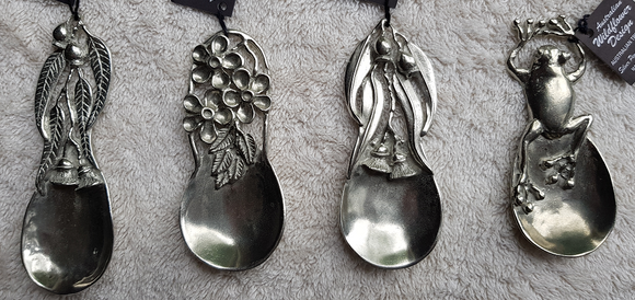 WS Handmade Silver Pewter Tea Scoop/Caddy Spoon