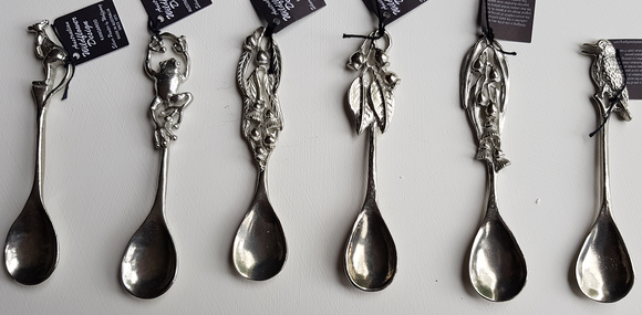 WS Handmade Silver Pewter Round Teaspoons