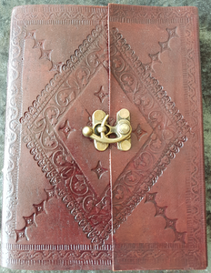 Medium - Leather Cover Journals – LD-016 TOP CLIP