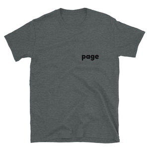 Page black on short sleeve