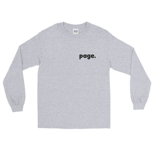 page. long sleeve